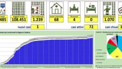 Photo of Nuovo caso di coronavirus in provincia di Cosenza: i dati sulla Calabria