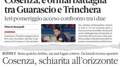 Photo of Sui giornali: «Battaglia Guarascio-Trinchera. Restano dubbi, fugati a breve»